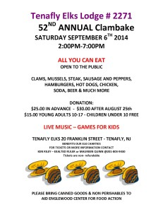 Tenafly Elks Club Clam Bake