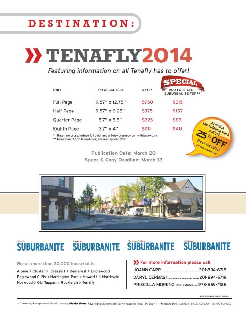 Suburbanite Promotion - Destination: Tenafly