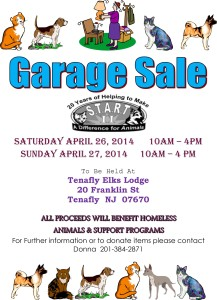 START Garage Sale Save the Animals Rescue Team II